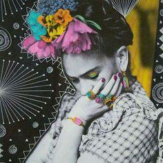 Thinking Frida Kahlo Diego Rivera, Kahlo Paintings, Frida Art, Atelier D Art, Kunst Online, Photocollage, Foto Art, Mexican Art, Art Graphique