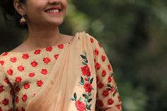 Morning Sunshine Pure Chiffon Rose Vine Saree by EASTANDGRACE on Etsy at https://www.etsy.com/listing/267704022/morning-sunshine-pure-chiffon-rose-vine?ref=shop_home_active_2. Visit www.eastandgrace.com to subscribe to newsletter for inaugural discount on this saree/blouse and also check out our feed on Facebook: www.facebook.com/eastandgrace.