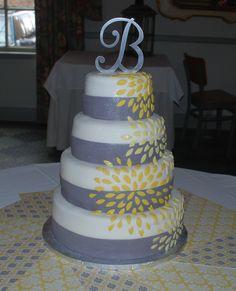 Yellow and Grey Wedding Cake | Wedding! | Pinterest | More Grey ...