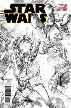 STAR WARS #10 STUART IMMONEN 1:00 SKETCH Variant Cover