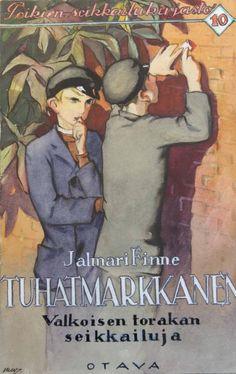 Martta Wendelin (Valkoisen torakan seikkailuja 1927) Native Style, Indigenous Art, Finland, Martini, Book Covers, Illustrators, Fairy Tales, Books, Vintage Stamps