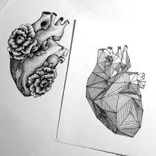 anatomical heart with flowers tattoo - Google Search