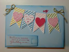 "Stampin up Set "" Hearts a Flutter """