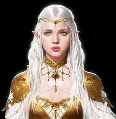 female elf adventurer / sorcerer with circlet and elaborate jewellery character concept ideas for DnD / Pathfinder Fantasy Girl, Fantasy Women, Fantasy Images, Dnd Characters, Fantasy Characters, Female Characters, Fantasy Character Design, Character Art, Character Concept