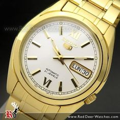 Seiko 5 Automatic, Seiko Watches, Gold Watch, Watches For Men, Jewels, Face, Stuff To Buy, Accessories, Gents Watches