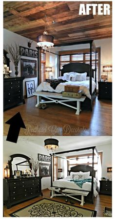 DIY Wood Planked Ceiling - Redhead Can Decorate