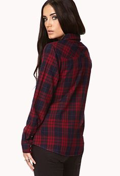Grunge Plaid Shirt | FOREVER 21 - 2000075092