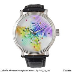 Colorful Abstract Background Men's Watches