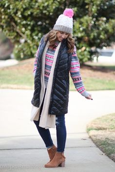 Two Peas in a Blog: Long Black Puffer Vest + End of Year Sales