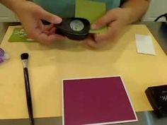 Stampin Up Upsy Daisy Card. Very good tutorial on how to make card.