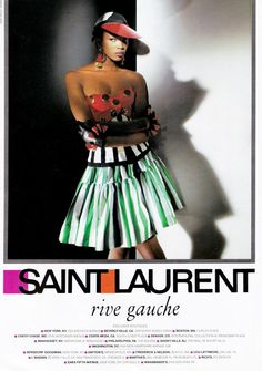 NAOMI CAMPBELL FOR YVES SAINT LAURENT RIVE GAUCHE ADVERTISEMENT