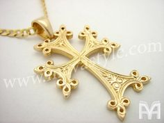 Yellow Gold Armenian Cross