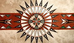 Fan of Cheyenne: Painting by Laura Mountain on Deer. Symbols of Cheyenne ceremonial Fans & Bustles dance around on hand painted hide. Native American Patterns, Native American Symbols, Native American Design, Native Design, American Indian Art, Native American History, Native American Indians, Native Indian, Native Art