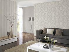 1 Rolle Vlies Tapete U0027Ornamentu0027 Barock Design Grau Si Kaufen