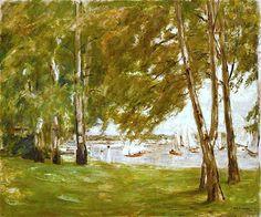 Bouleaux au bord du lac, face à l'est Birken am Wannseeufer nach Osten, 1924 / Max Liebermann (1847-1935)