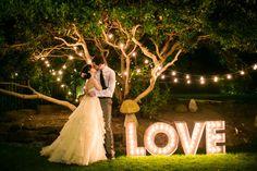 Podświetlany napis LOVE na wesele! WYNAJEM! Gdańsk - Sayido - Dekoracje ślubne