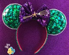 Mermaid Ears, Little Mermaid Ears, Mermaid Mouse Ears, Mermaid Minnie Ears, Ariel Mickey Ears, Disney Ears