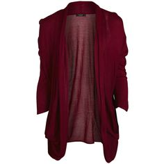 Vila Knit Cardigan ($13) ❤ liked on Polyvore featuring tops, cardigans, jackets, outerwear, sweaters, rumba red, knit cardigan, three quarter sleeve cardigan, 3/4 sleeve knit tops and 3/4 length sleeve tops
