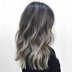 Best Ash Blonde Hair Color Ideas to Inspire You - Ash Blonde Balayage - Ash Blonde Hair, Blonde Ombre, Hair Color Balayage, Hair Highlights, Ash Brown Hair Balayage, Ash Blonde Balayage Dark, Blonde Color, Ashy Hair, Ashy Brown Hair
