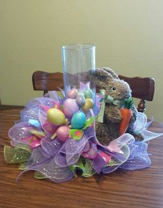Happy Easter Centerpiece 14 inch by NancysNowandForever on Etsy