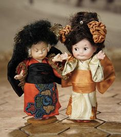 """""""Fascination"""" - Sunday, January 8, 2017: 269 Two German All-Bisque Dolls as Japanese Children"""