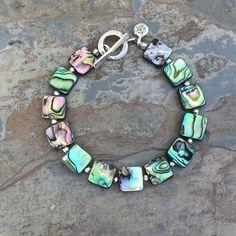 Abalone Bracelet Abalone and Silver Bracelet by EastVillageJewelry