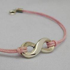 Sterling silver infinity bracelet on leather string Handcrafted Jewelry, Handmade, Sterling Silver Bracelets, Infinity, My Etsy Shop, Buy And Sell, Jewels, Silver Jewellery, Leather