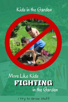 Fun with kids in the garden. More like kids fighting in the garden. I tried gardening with my kids - here's how it went. | humor | funny | homeschool