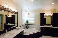 Master bathroom corner tub