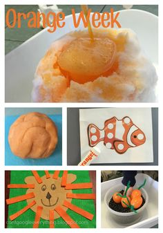 Color Week 4: Orange! Activities for teaching and learning the color orange with your toddler!
