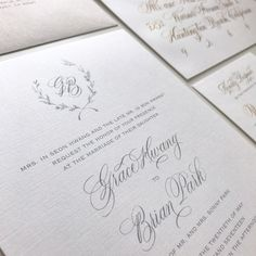"""762 Likes, 23 Comments - Younghae Chung (@logos_calligraphy) on Instagram: """"Sharing more wedding stationary from Grace & Brian's wedding! My favorite part was personalizing…"""""""