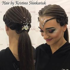 Hair by Kristina Shinkariuk #hairdresses #hairstyle #hair #kristinashinkariuk #dancesport #dancehair #imagemaximum #ballroom #dancecompetition #beauty #muah #make-up #hairstylist #wdsf #прическа #прическадлятанцев