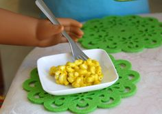 American Girl Doll Food. Entree' Portion of macaroni and cheese by FauxRealFood