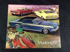 Original 1967 Ford Mustang Dealer Sales Brochure GT Sports Trim Fastback 2 + 2