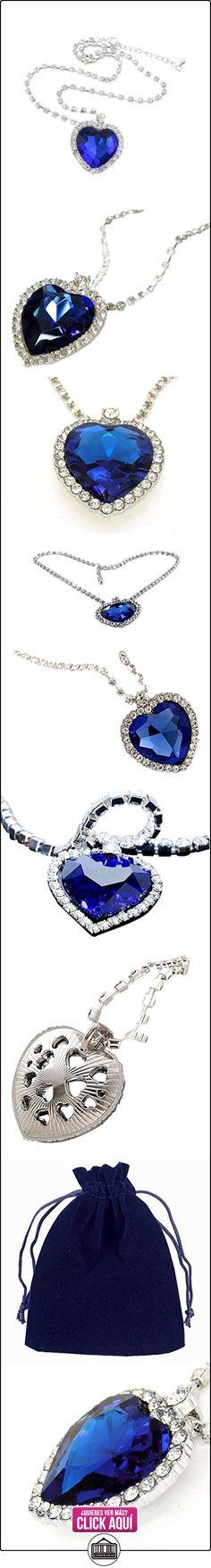 Titanic corazón del océano collar de réplica azul con corazón de cristal blanco Juego de cristal cadena  ✿ Joyas para mujer - Las mejores ofertas ✿ ▬► Ver oferta: http://comprar.io/goto/B015PM3NMY