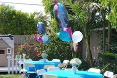 Frozen theme backyard tables