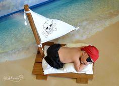Kit para produção fotográfica newborn, contendo uma calça 100% algodão, 1 tapa olhos e 1 lenço de malha <br>.Obs: temos o barquinho também. Confira no link http://www.elo7.com.br/jangada-newborn/dp/520B37