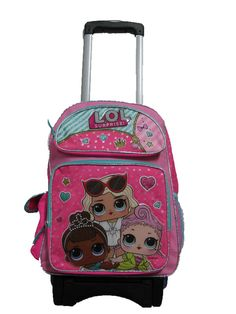 """B18LO37962 LOL Surprise Large Custom Rolling Backpack 16"""" x 12"""" x 5"""" (eBay Link) Cute Backpacks For School, Cute Mini Backpacks, Book Bags For Kids, Mickey Mouse Room, Frozen Headband, Makeup Kit For Kids, Cute Luggage, Apple Watch Accessories, Rolling Backpack"""