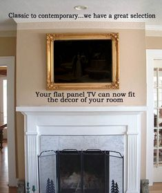Painted black, this frame would be perfect!  Great way to turn your tv into art. LOVE!