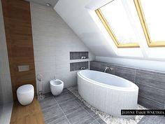Aranżacja sypialni z łazienką na poddaszu