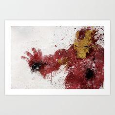Iron Man Art Print by Melissa Smith - $16.00