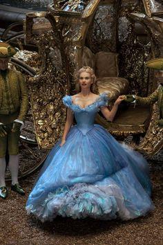 Lily James as Ella from Cinderella