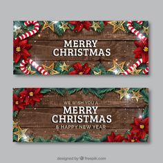 realistic Christmas Flyer Free Vector