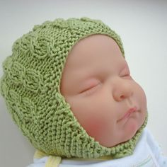 Knitting Pattern PDF Baby Hat with earflaps and cable design - ADDISON £2.50
