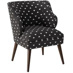 Nothing says chic quite like a fashionable accent chair. Dressed a geometric print, this midcentury-style piece makes a statement whether it's paired with a ...