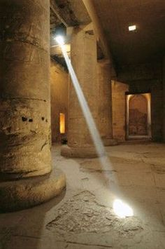 ♔ Sunlight shafts pierce the Temple of Abydos ~ Luxor ~ Egypt
