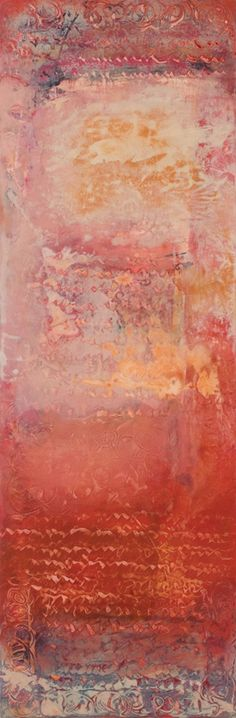 "Karan Ruhlen Gallery - painting by Jinni Thomas ""Trace of Antiquity XIV""  Jinni's pieces have such rhythm and grace"