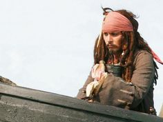 Jack Sparrow and his jar of dirt (Pirates of the Caribbean)