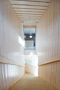 Image 4 of 25 from gallery of Fagerborg Kindergarden / Reiulf Ramstad Arkitekter. Photograph by Reiulf Ramstad Arkitekter Norway Design, Wood Architecture, Wood Detail, Living Spaces, Living Room, Wall Lights, Design Inspiration, Interior Design, Outdoor Decor