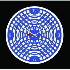 """L'horloge """"Ondes gravitationnelles"""" est une horloge murale symbolisant les phénomènes physiques de l'univers. Cette horloge décorative en PMMA (Plexi) découpée au laser est équipée d'un mouvement à quartz précis ultra silencieux, de deux aiguilles, d'une trotteuse et d'un crochet de suspension. Plusieurs couleurs disponibles."""